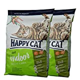 2 x 10 kg Happy Cat Indoor Adult Weide-Lamm