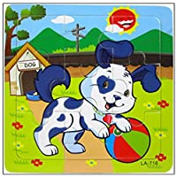 Buyby_Babys&Toy Wooden Puzzle,Buyby Jigsaw Puzzle 9 pieces Babys Intellegence Develope (Puppy)