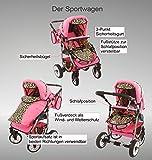 Chilly Kids Dino Kombikinderwagen (Regenschutz, Moskitonetz, Schwenkräder) 01 Schwarz & Weiß - 4