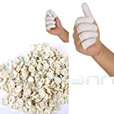 100 Copridita protezioni dita dito guanti lattice gomma sporco usa getta monouso