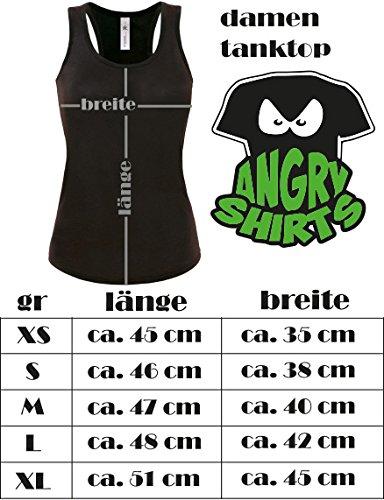 Sexy Krankenschwester Kostüm Krankenschwesterkostüm - Damen Tanktop Schwarz/Weiss-schwarz-rot