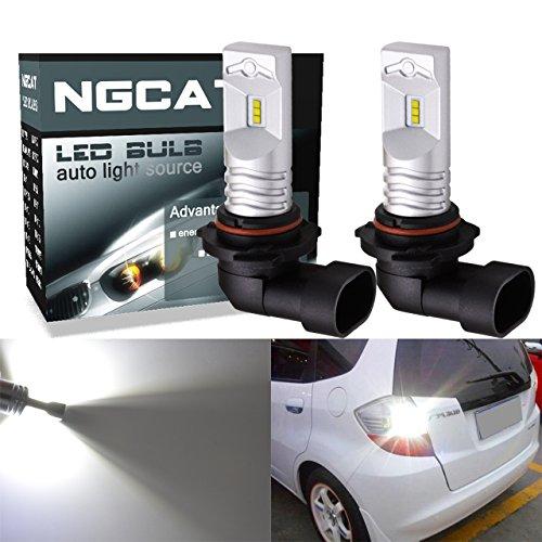 ngcat extremadamente brillante 2pcs 850lúmenes Chips CSP 9005HB3Bombillas LED de Philips utilizar para automóvil DRL luces de conducción diurna de Auto Vehículo, camión, furgoneta, SUV, ATV y motocicleta 12V-24V, Xenon Blanco