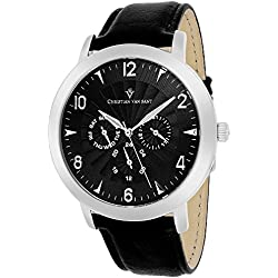 Christian Van Sant Herren cv3515 Analog Display Quartz Black Watch