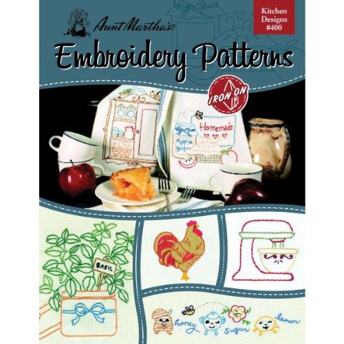 Tante Martha 's Küche Designs Stickerei Transfer Muster Buch, über 25Eisen auf Mustern (Tante Stickerei Marthas Transfers)