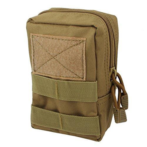 sourcingmap Laufen taktische Nylon Holster Tasche Abdeckung Taille Telefon Gurt Tasche oliv Gelb (Hose Olive Acu)
