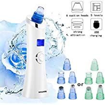 NAVANINO Limpiador de Poros Eliminador de Punto Negro, 6 Sondas Multifuncionales y 5 Niveles de
