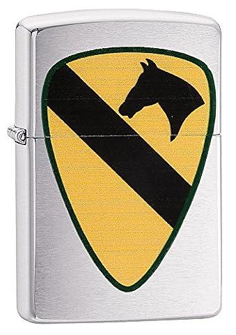 Zippo US Army 82nd Airborne winddicht Feuerzeuge–Chrom gebürstet R gebürstetes chrom (Metallic One Pocket)
