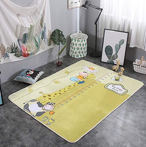Lkrou Teppich Familie Set Europäischen Home Ins Einfache Nordic Cartoon Kinderzimmer Spiel Klettermatte Wohnzimmer Couchtisch Rutschfester Teppich A22 Kinderzimmer 160X230 cm