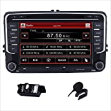Doppel DIN Autoradio CD DVD Player GPS DAB + Radio RDS Bluetooth GPS Navigation Touch Screen Mirroring für VW Golf Mk5 MK6 Skoda Passat Seat Jetta Polo Touran Caddy Transporter T5 t6-support USB SD SWC 3 G Aux 1080P Kamera Parking Sensor hinten Canbus OBD gratis EU Karte