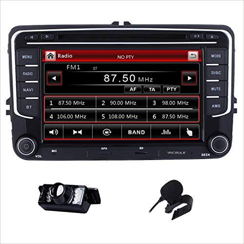 Doppel DIN Autoradio CD DVD Player GPS DAB + Radio RDS Bluetooth GPS Navigation Touch Screen Mirroring für VW Golf Mk5 MK6 Skoda Passat Seat Jetta Polo Touran Caddy Transporter T5 t6-support USB SD 3G