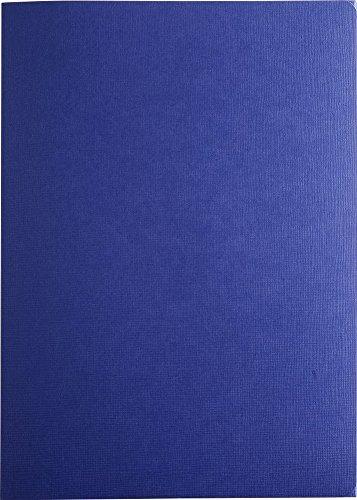 Exacompta 49202B Bewerbungsmappe (3-teilig mit 2 Klemmschienen, Kapazität 30 Blatt aus Manila Leinen Karton 400g Nature Future, DIN A4) blau (Blaue Präsentationsmappen)