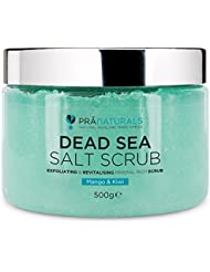 PraNaturals Revitalising Dead Sea Body Scrub 500g, 100% Organic Nourishing Dead Sea Salt Skin Exfoliating Scrub Blended with Fruit Oils, Rich in Natural Minerals for All Skin Types, Paraben Free