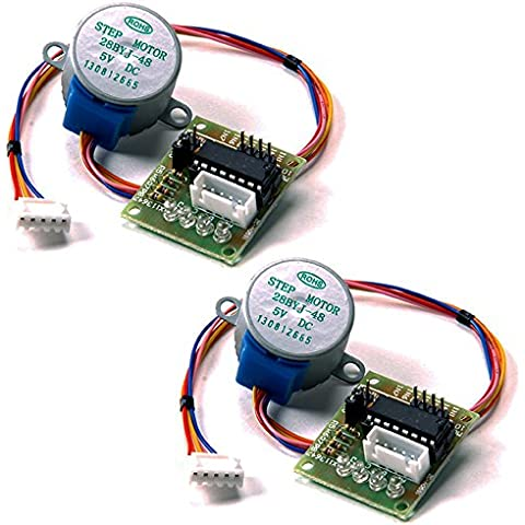 KOOKYE 2pcs 28BYJ-48 DC 5V 4-Phase 5-Wire Stepper Motor with ULN2003 Driver Board for Arduino