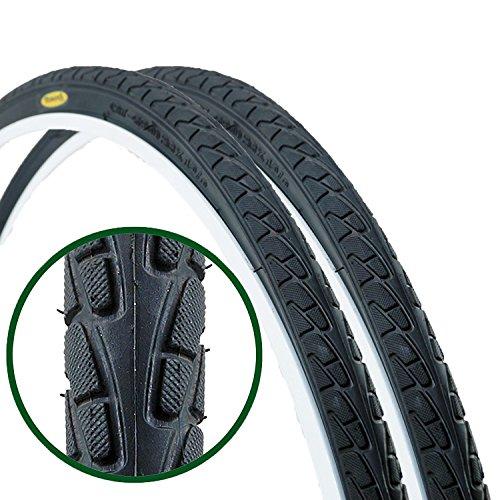 Bike Road Hybrid (Paar Fincci Road Mountain Hybrid Bike Fahrrad Reifen 26 x 1 3/8 37-590)