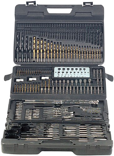 AGT Bohrerset: Profi Bohrer- & Bit-Set 204-teilig, Chrom-Vanadium inkl. Magnet-Adapt. (Bohrerkoffer)
