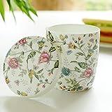 Tazze da coppia in ceramica coppette in porcellana bone china con coperchio a cucchiaio tazza da caffè per ufficio europea simpatici bambini che bevono tazze ( Color : European style )