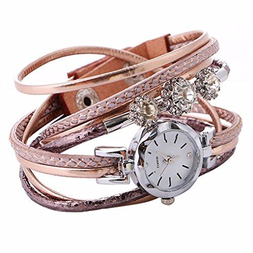 Damen Armband Diamant Kreis Uhr HARRYSTORE Schüler Mode Mini wählen Tabelle (Rose Gold)