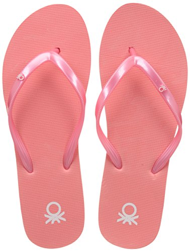 10. United Colors of Benetton Women's Pink Flip-Flops and House Slippers