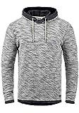 !Solid Flock Herren Kapuzenpullover Hoodie Pullover Mit Kapuze Aus 100% Baumwolle, Größe:M, Farbe:Black (9000)