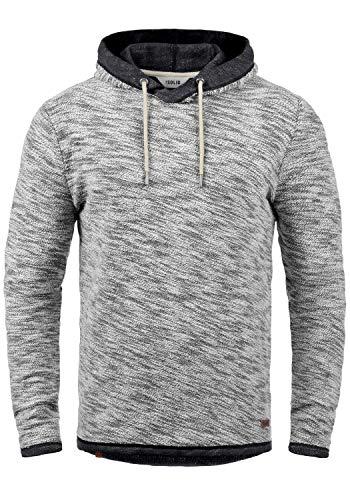 !Solid Flock Herren Kapuzenpullover Hoodie Pullover Mit Kapuze Aus 100% Baumwolle, Größe:XXL, Farbe:Black (9000)