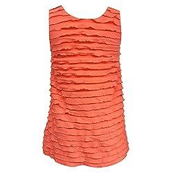 mayoral - Girls Short Sleeve Dress Spring Dress Tunic Dog Motif, Salmon - 3999