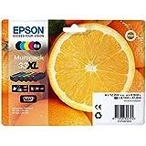Encre d'origine EPSON Multipack Oranges T3357 : cartouches Noir XL, Noir photo XL, Cyan XL, Magenta XL, Jaune XL