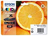 Encre d'origine EPSON Multipack Oranges T3357 : cartouches Noir XL, Noir photo XL, Cyan XL, Magenta XL, Jaune XL