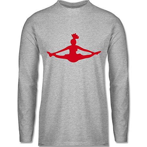 Tanzsport - Cheerleading - Longsleeve / langärmeliges T-Shirt für Herren Grau Meliert