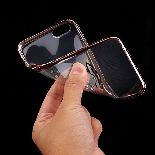 Wkae Case Cover Fur IPhone 6 6s Diamant Verkrustete Shell Muster Galvanotechnik Feld TPU