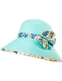 Sombreros Paja Playa Verano Coreano Sun Hat Sombrero Plegable del Sol 985952628b7
