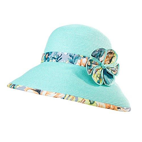 Chapeaux de plage paille été/Chapeau de soleil coréen/Chapeau de soleil pliable/Chapeaux Holiday Beach A