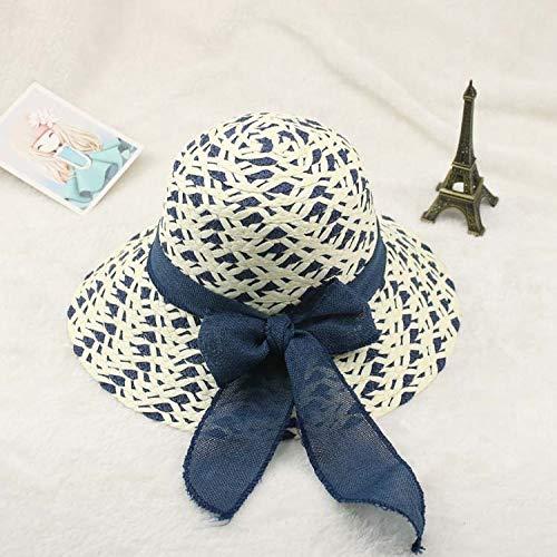 zhuzhuwen Strohhut Lady Bow Dome Sonnenblende 1 Einheitsgröße