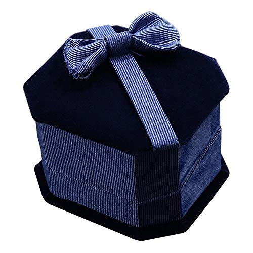 TLZR Caja de Regalo de joyería de Caja de exhibición de Pendientes de Anillo de Neclace con Lazo