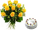 #10: Fresh Flower Bouquet (Bunch of 12 Yellow Rose)- FFCO0037M