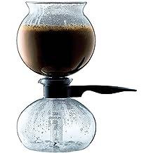 Bodum Pebo - Cafetera alambique, 1 l, color negro