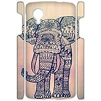 Generic Shock Resistance Design Colorful Elephant Drawing 3 For Google Lg Nexus5 Phone Case Pc Womon