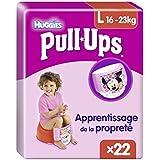 Huggies Pull-Ups 22 Couches Culottes d'apprentissage Filles taille 6/L - Lot de 2