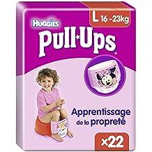 Huggies Pull-Ups, Talla 6 niña, 2 packs de 22 [44 pañales]