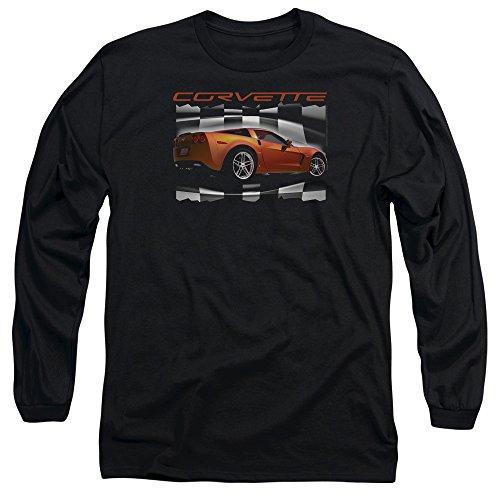 Chevrolet Herren Langarmshirt Schwarz