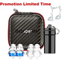 Earplugs for Concert Musician High Fidelity Reusable Hearing Protection Ear Plugs for Drummer DJ Gig Club Festival Motorbike Office Silicone Noise Cancelling Reduction Soft Earplug with Case for Adult