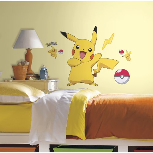 Preisvergleich Produktbild RoomMates RMK2536GM Pokemon Pikachu Peel and Stick Wall Decals