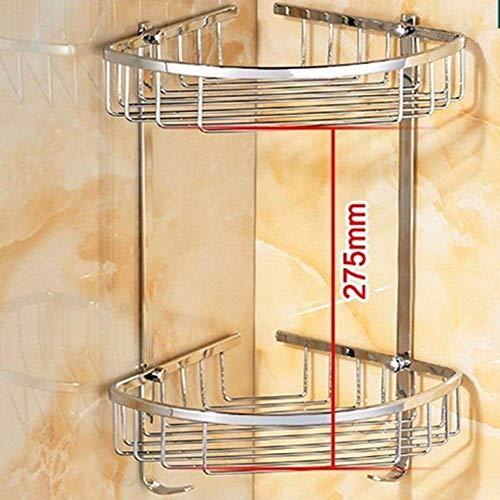 YSJ Badezimmerzubehör, Badezimmer- / Toiletten-Gestelle, kupfernes Doppeltes Regal