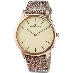 TOM TAILOR Watches Damen-Armbanduhr Analog Quarz Leder 5414703