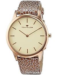 TOM Tailor de relojes mujer-reloj analógico de cuarzo cuero 5414703