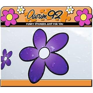 Aurum92 Purple Daisy Car Stickers - Pack of 30