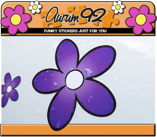 Purple Daisy Car Stickers Pack of 30