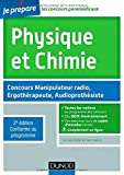 Physique et Chimie - 2e éd - Concours Manipulateur radio, Ergothérapeute, Audioprothésiste de Germain Weber (5 février 2014) Broché