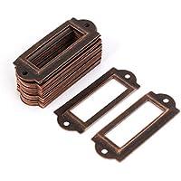Uxcell - Organizador de cajones para tarjetas con nombre y etiqueta, color cobre, 30 piezas (a16062000ux0458)