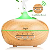 Yegu Ultrasonic Scented Aroma Diffuser, Upgrade Aromatherapy Essential Humidifier Diffuser Air Purifiers with Automatic Sensor Switch Waterless or Rollover Auto Shut-Off 15 colors for Yoga, Spa, Home