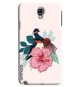 Omnam Birds Pattern Printed Designer Back Cover Case For Samsung Galaxy Note 3 Neo